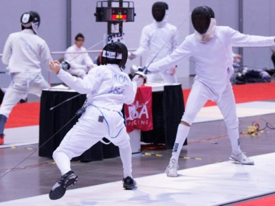 Epee at tournament